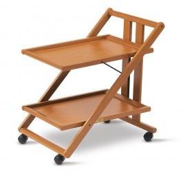 Măsuță mobilă din lemn de fag Arredamenti Italia Gimmy, maro