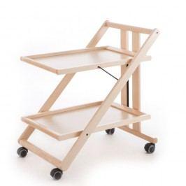 Măsuță mobilă din lemn de fag Arredamenti Italia Gimmy, albă