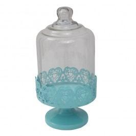 Suport servire cu capac sticlă Mauro Ferretti, albastru