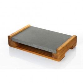 Platou servire cu blat de granit pentru menținerea caldă a preparatelor Bambum, 30 x 20 cm