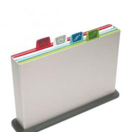 Suport cu tocătoare, Index, plăci colorate/suport argintiu,34x24 cm
