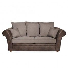 Canapea cu 3 locuri Softnord Barcelona, maro