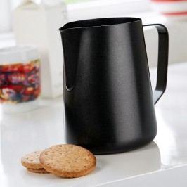 Ulcior din metal pentru lapte Steel Function Milk Black, 1500 ml