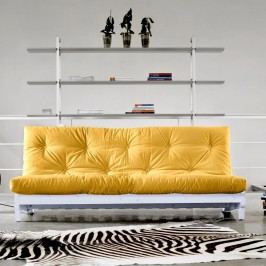 Canapea extensibilă Karup Fresh White/Amarillo
