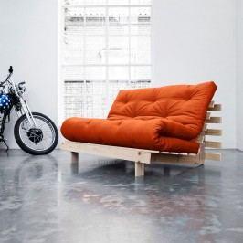 Canapea extensibilă Karup Roots Raw/Orange