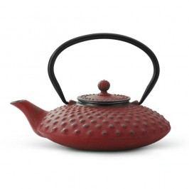 Ceainic din fontă cu infuzor Bredemeijer Xilin, 0,8 litri, roșu