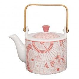 Ceainic din porțelan Tokyo Design Studio Shiki, 800 ml, alb-roșu