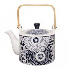 Ceainic din porțelan Tokyo Design Studio Shiki, 800 ml, albastru-alb
