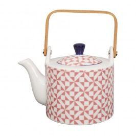 Ceainic din porțelan Tokyo Design studio, 0,8 l, roz