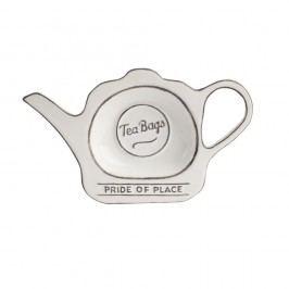 Suport pentru pliculețe de ceai T&G Woodware Pride of Place, alb