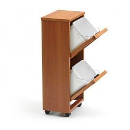 Organizator pentru reciclare cu 2 compartimente din lemn de fag Arredamenti Italia Madera, maro