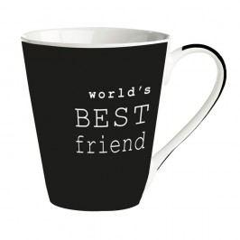 Cană porțelan Galzone World's best friend, negru, 300 ml