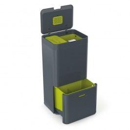 Coș pentru deșeuri reciclabile Joseph Joseph IntelligentWaste Totem 60, gri