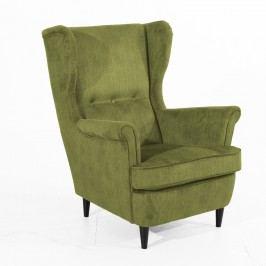 Fotoliu Max Winzer Clint verde măsliniu, cu picioare negre