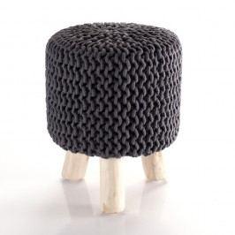 Puf tricotat Tomasucci Knit, gri