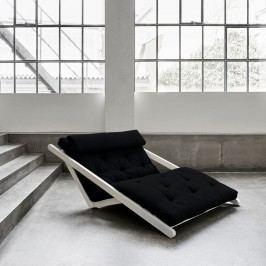 Șezlong extensibil cu 2 locuri Karup Figo White/Black