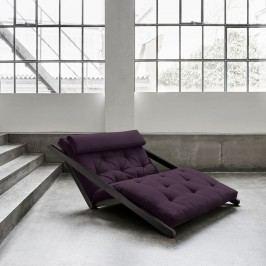 Șezlong extensibil cu 2 locuri Karup Figo Wenge/Purple
