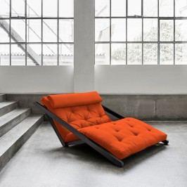 Șezlong extensibil cu 2 locuri Karup Figo Wenge/Orange