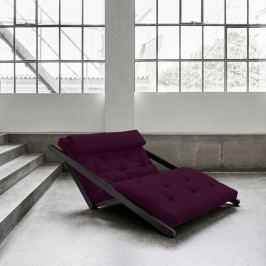 Șezlong extensibil cu 2 locuri Karup Figo Wenge/Purple Plum