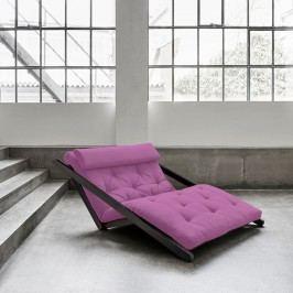 Șezlong extensibil cu 2 locuri Karup Figo Wenge/Taffy Pink