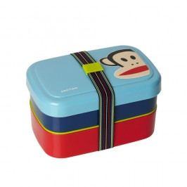 Cutie pentru gustare, 2 nivele, LEGO® Paul Frank, albastru