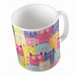 Cană ceramică Cats In Colours, 330 ml