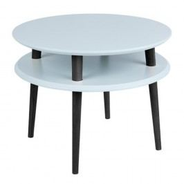 Masă de cafea cu picioare negre Ragaba UFO, Ø 57 cm, gri deschis