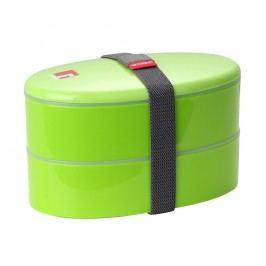 Cutie pentru gustare cu tacâmuri Bergner Outside, verde
