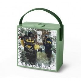 Cutie depozitare cu mâner LEGO® Army Ninjago, verde