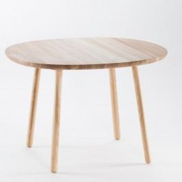 Masă dining din lemn masiv EMKO Naïve, 110 cm, natural
