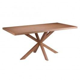 Masă cu elemente de decor din lemn de stejar sømcasa Dina, 180 x 90 cm