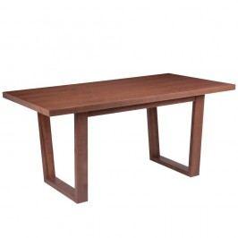 Masă cu elemente de decor din lemn de nuc sømcasa Amber, 180 x 90 cm