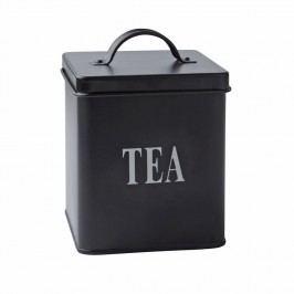 Doză metalică Tea Black, 14x11,5 cm