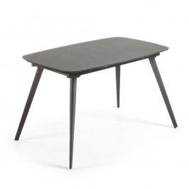 Masă extensibilă La Forma Snugg, 120-180 cm, negru
