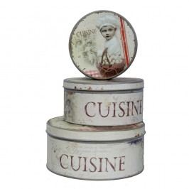 Set 3 doze rotunde Antic Line Cuisine