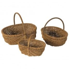 Set 3 coșuri răchită Antic Line Baskets