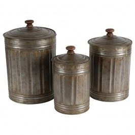Set doze din zinc cu capac Antic Line Vintage