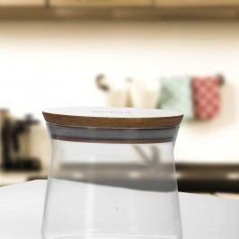 Recipient sticlă cu capac din bambus Bambum Olla, ⌀ 11 cm