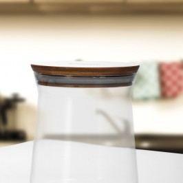 Recipient sticlă cu capac din bambus Bambum Olla, ⌀ 13 cm