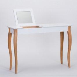 Masă de toaletă cu oglindă Ragaba Dressing Table, lungime 105 cm, alb