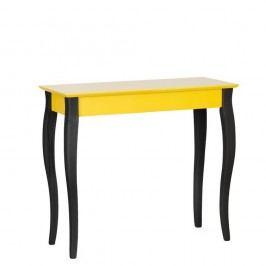 Masă tip consolă cu picioare negre Ragaba Lilo, lățime 85 cm, galben