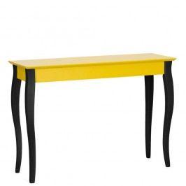 Masă tip consolă cu picioare negre Ragaba Lilo, lățime 105 cm, galben
