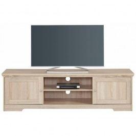 Comodă TV în decor de lemn de stejar Støraa Annie, 160 x 45 cm