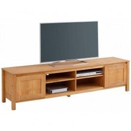 Comodă TV din lemn masiv de pin cu 4 compartimente Støraa Salento