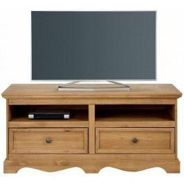 Comodă TV din lemn masiv de pin Støraa Monty, lățime 120 cm