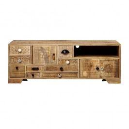 Comodă TV din lemn de mango Massive Home Ella, lungime 120 cm