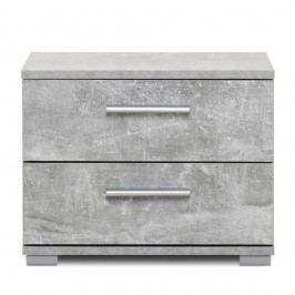 Noptierp cu 2 sertare și aspect de beton Intertrade Elora