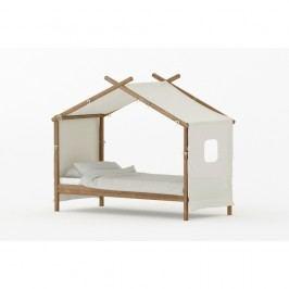 Pat pentru copii din lemn de pin BLN Kids House, 200 x 90 cm