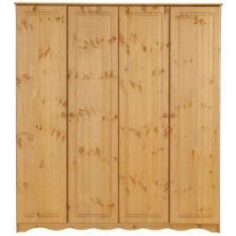 Șifonier din lemn masiv de pin cu 4 uși Støraa Amanda