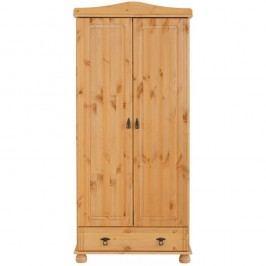 Șifonier cu 2 uși din lemn masiv de pin Støraa Fiona